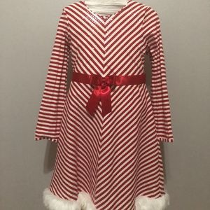 A Red and White Stripped Dress (Christmas)